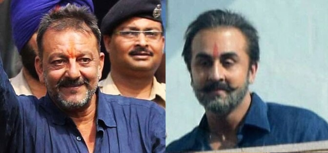 Ranbir Kapoor as Sanjay Dutt in his Biopic